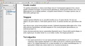 Screenshot bladwijzers met geselecteerde bladwijzer - vergroot afbeelding