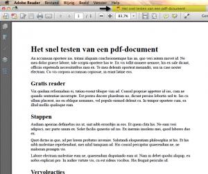 De titel kan bovenin het document getoond worden bovenin het document - vergroot afbeelding