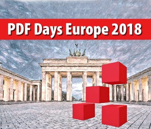 Afbeelding banner: PDF Days Europe 2018 Berlijn